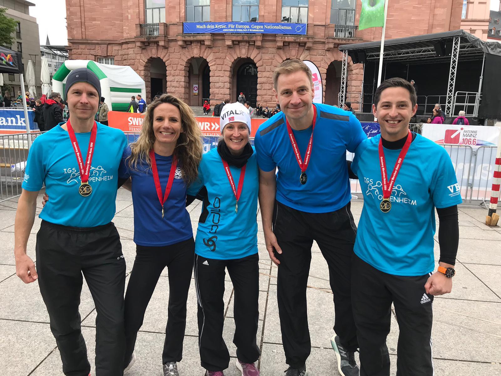 Erfolgreiche Teilnahme am 20. Gutenberg-Marathon